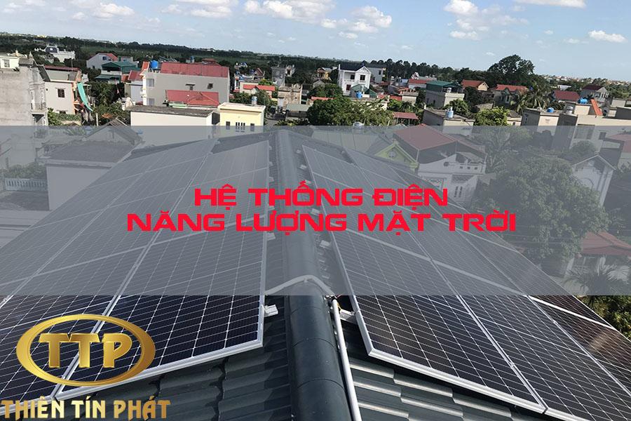 hệ thống năng lượng điện mặt trời hòa lưới